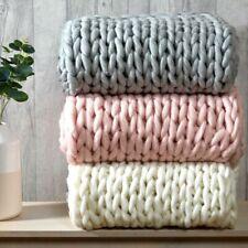 Luxo Robusto Wooly Hand Knitted Cabo Tricô Manta Sofá/Cama jogar 120x150cm