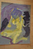 "Arthur Secunda ORIGINAL Acrylic on Paper "" Diane Au Repos""  ~ One of a Kind"
