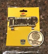 NEW TRUMP slider magnetic holder Golf Ball Marker Cap hat belt Clip combo pack