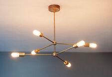 Metà Del Secolo Moderno Ottone Lampadario atomica Luce Montaggio 6 LAMPADINA braccia Sputnik NUOVO