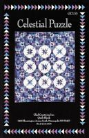 Vintage Glad Creations Quilt Pattern CELESTIAL PUZZLE 3 Types of Star Blocks OOP