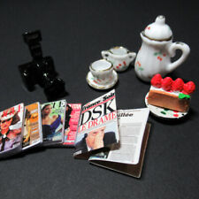 Dollhouse Miniature Kit Camera Magazine Cake Cup Doll Accessories Gift