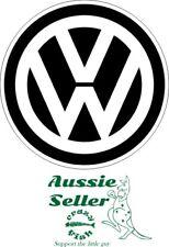 VW sticker black 130 mm round BUY 2 & Get 3
