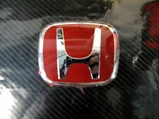 Genuine honda type r badge emblem red h grill 80mm x 65mm 75701-S1A-E11ZB
