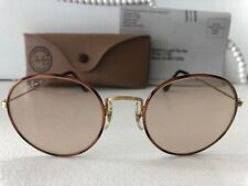 EXC VTG*NOS*UNWORN*W0701*ROUND TORTUGA*CHANGEABLE B&L RAY-BAN USA SUNGLASSES+CAS