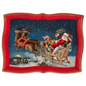 "Raz Imports Santa Sleigh Tray 17"""