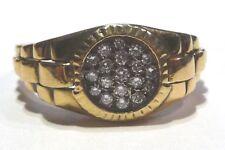 Vintage Men's 18k hallmarked Gold and 19 Diamond Ring size 11 (UK size V-1/2)