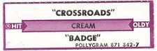Juke Box Strip Cream - Crossroads / Badge