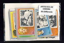 Artistes de cinéma 50 timbres différents oblitérés