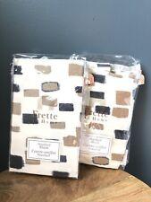 Frette At Home Set Of 2 Standard Shams Mosaic NIP