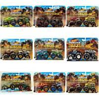 Hot Wheels Monster Trucks 1:64 Demolition Doubles 2-Pack Choose Your Favourite!
