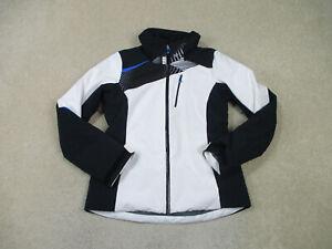 Obermeyer Jacket Womens 6 White Black Skier Winter Coat Full Zip Ladies  *