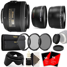 Nikon AF-S DX NIKKOR 35mm f/1.8G Lens + 52mm Top Lens Accessory Kit