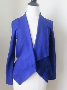 Women's Cobalt Blue Long sleeve Blazer Size Small-EUC