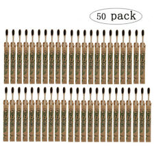 50pcs Bamboo Toothbrush Eco Friendly Oral Care Soft Bristles Tooth Brushes Set