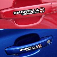 4x Car Door Handle Decal Car Accessories Resident Evil Umbrella Sticker Decor