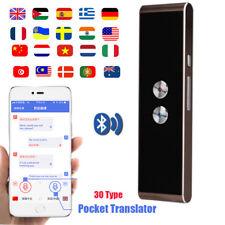 Bluetooth Traductor De Voz Inteligente Inalámbrico 2 Vías Tiempo Real 41 Idiomas