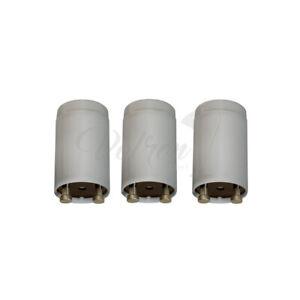 Starlicht 3er Set Starter für Leuchtstoffröhren 4-80W Single-Starter Neonröhren