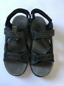 Mens Urban Jacks Martin M26 Adjustable Straps Leather Flat Sandals Black Uk 7-12