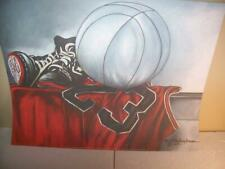"Michael Jordan Chicago Bulls ""Jersey"" Lithograph by Robert Simon"