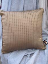 Gorgeous Filigree SANSILK Mushroom Check Silk Look Cushion Cover CLEARANCE SALE