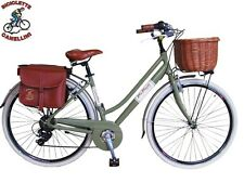 D VV Fahrrad Retrò citybike bike Cruiser frau damen alu aluminium grün