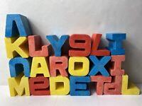 Vintage Vtg Mattel 1971 Tuff Stuff ABC Alphabet Letter Blocks Set DA92984
