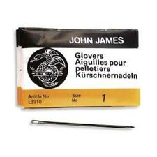 25 SIZE ONE (#1) GLOVERS NEEDLES - Perfect for Leather! Glover's