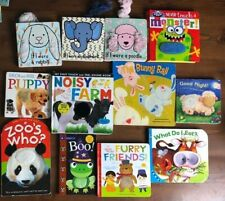 Lot 12 TOUCH & FEEL Board Book DK Puppy Monster If I Were Poodle Rabbit Elephant