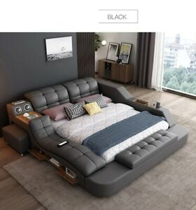 Europe and America Fabric Cloth Bed Massage Modern Soft Beds Home Bedroom