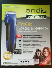 Andis ProClip Excel 5-Speed+ Detachable Blade Clippers w/ 4 Bonus Combs! NEW
