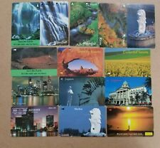 14 pieces Singapore Phone cards (used) (Lot 11-200620)