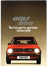 Volkswagen Golf Driver 1300 Mk1 Limited Edition 1980 UK Market Sales Brochure