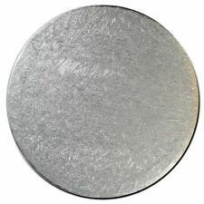 """10"""" inch round cake Card board 3mm thick Pack of 5 Silver   FAST DESPATCH"""