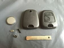 Repair Kit for Peugeot 307 2 button remote key fob case switches & battery