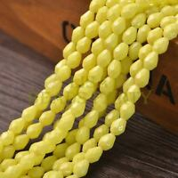 New Arrival 30pcs 8X6mm Faceted Teardrop Loose Spacer Glass Beads Yellow