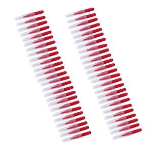 100PCS Dental Interdental Brush Floss Sticks Tooth Floss Head Toothpick 25*3mm
