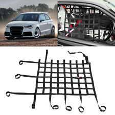 Black Universal Car Racing Window Net Safety Equipment Off Road Nylon Webbing DY