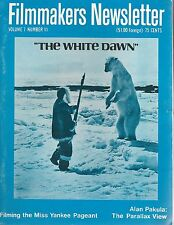 Filmmakers Newsletter Sept 1974~The White Dawn~Alan Pakula The Parallax View