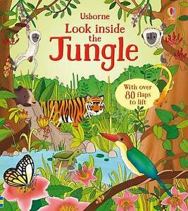 Brand New Usborne Look Inside: Look Inside the Jungle by Minna Lacey