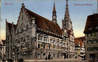 Ulm an der Donau Baden-Württemberg AK 1914 Rathaus Kirche Kathedrale Münster Amt