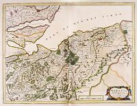 MAP ANTIQUE 1654 SCOTLAND BLAEU LIDDESDALE OLD LARGE REPRO POSTER PRINT PAM0136