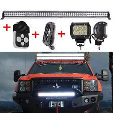 """52"""" Barra LED Fuoristrada+ 2* 18W luce lavoro +  3 Piombo cablaggio telecomando"""