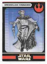 2005 Star Wars Miniatures Dressellian Commando Stat Card Only Swm Mini