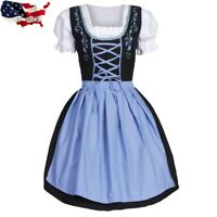 USA German Beer Girl Costume Dress Bar Maid for Bavarian Wench Oktoberfest party
