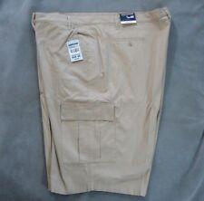 """GREYSTONE BIG SIZES Khaki Cargo Pocket Twill Shorts Long Style 4822 60"""" x 12.5"""""""