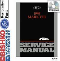 1995 Lincoln Mark Vlll Shop Service Repair Manual CD Engine Drivetrain OEM