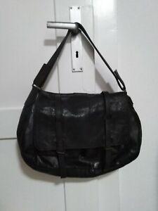 Belstaff Echtleder große Handtasche Vintage anthrazit - schwarz used