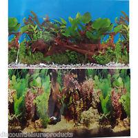 "24""/60cm Aquarium Freshwater Planted Fish Tank & Wood Background #M"