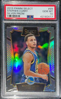 LOW POP!🔥2015 Stephen Curry PANINI SELECT SILVER PRIZM REFRACTOR #99 PSA 10 BGS